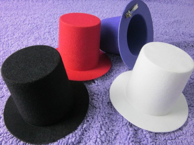 34bb914b0d3d1 10pcs Mini Top Tall Hat Millinery Fascinator Base DIY Craft