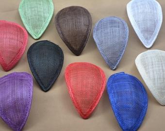 17cmX8.5cm Teardrop Sinamay Hat fascinator Base millinery craft making material 10 colors to choose B066