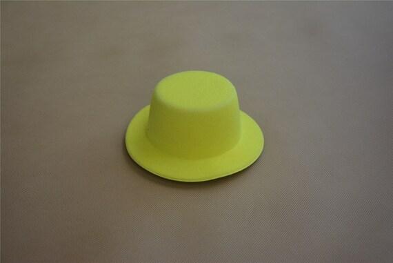 ba2704b9a6ad4 1pcs Yellow Mini Top Hats Craft Making Party Fascinator