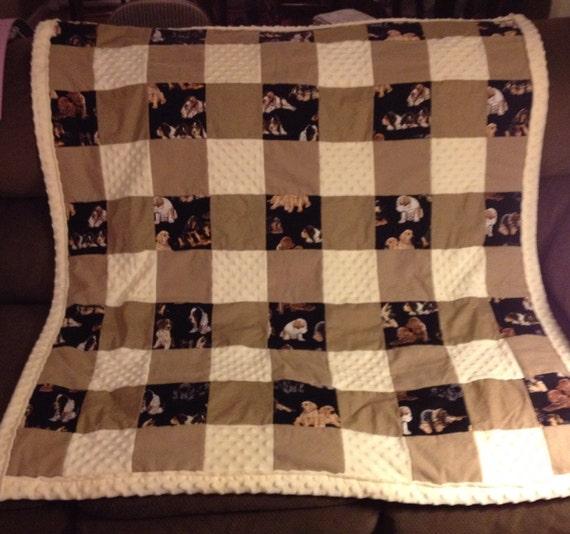 Dog Lap Quilt Large Dog Themed Quilt Etsy