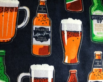 FLANNEL - Craft Beer Fabric - Craft Beer Flannel - Brewery Fabric - Brewery Flannel - Ale Fabric - Home Brewing Fabric