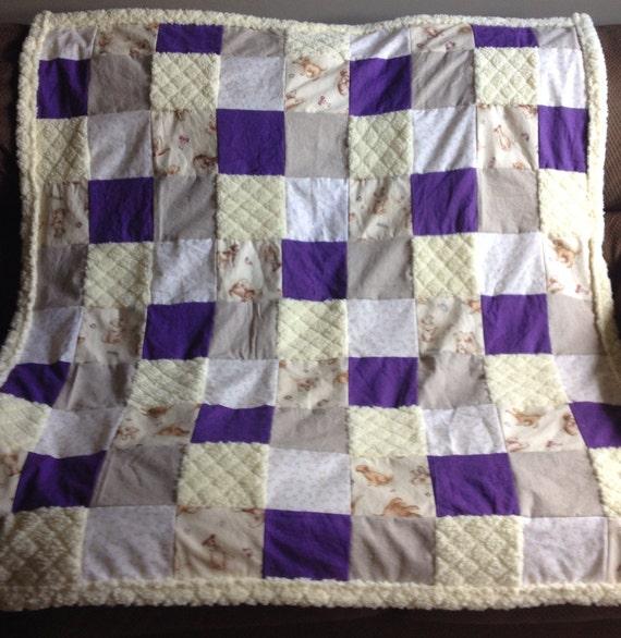 Dog Themed Lap Quilt Purple Playful Dog Quilt Dog Blanket Etsy