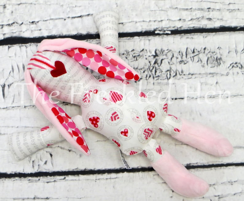 Handmade bunny rabbit stuffed animal rabbit toy handmade doll easter bunny child toy toddler toy minky plush sensory baby crib toy