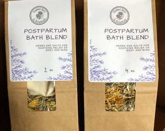 Postpartum Bath Blend Herbal Sitz Bath for Soothing Relief After Birth- Looseleaf OR Pre-Packed in Tub Tea Bags