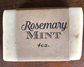 Rosemary Mint Herbal Soap - Natural - Palm oil free - Vegan - Handmade