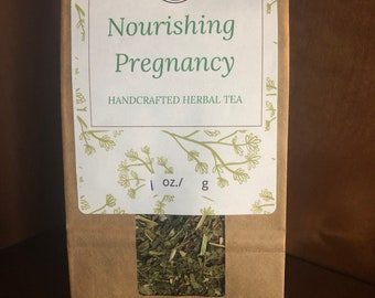 Nourishing Pregnancy Herbal Tea ~ Organic Herbal Tea Blend - Homemade - For Ohio Customers Only
