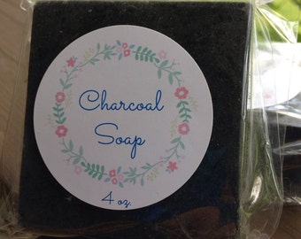 Detoxifying Peppermint Charcoal Soap with Shea Butter and Goat's Milk