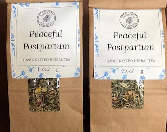 Peaceful Postpartum Herbal Tea ~ Organic Herbal Tea Blend - Homemade - For Ohio Customers Only