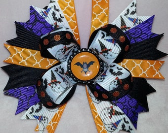 Batty for Halloween Bow