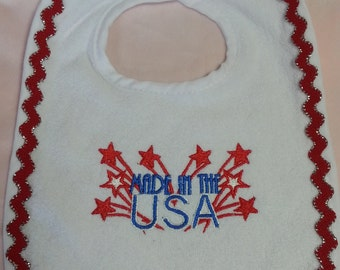 Made in USA Bib (girl)