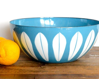 "Cathrineholm, Grete Prytz Kittelsen-designed 'Lotus' light blue 8"" bowl"