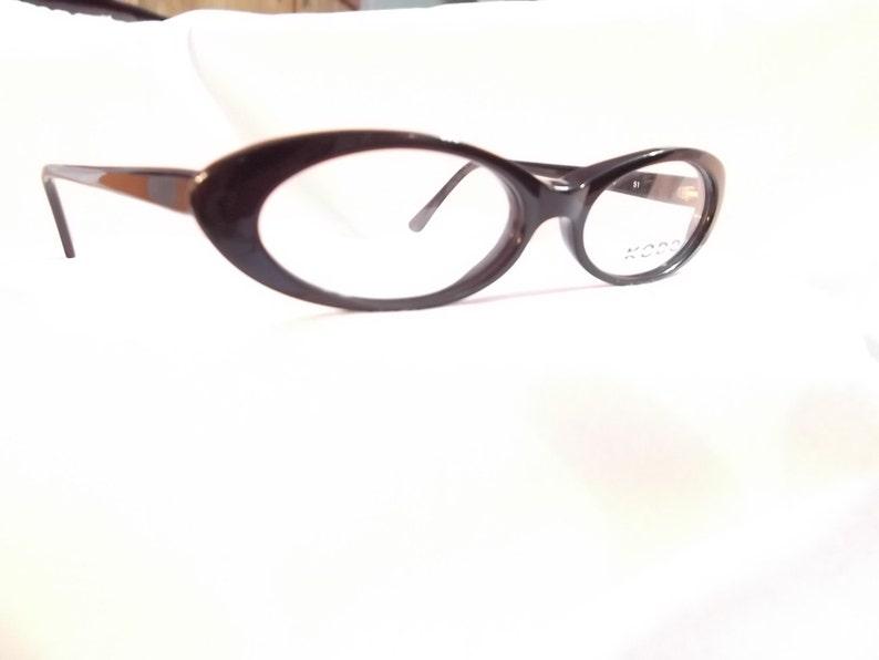 vintage cat eye black plastic  eyeglasses / frame