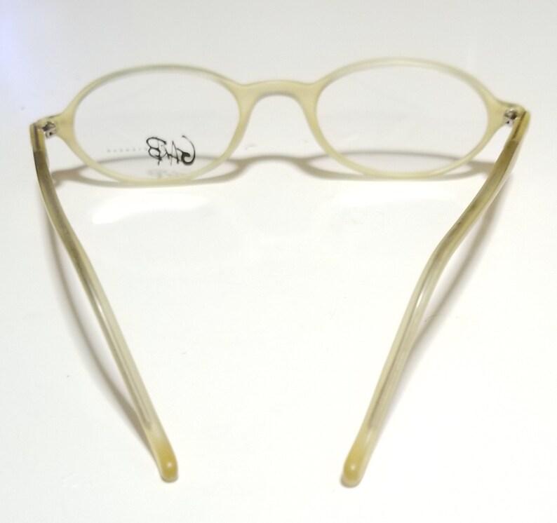 Vintage Plastic Oval Eyeglasses Frame