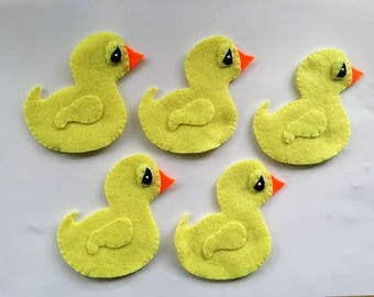 5 little ducks felt finger puppets