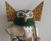 Native American Hopi Indian art owl Kachina Doll carved Earth spirit ancient symbolic artifact
