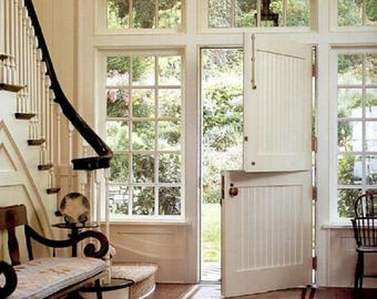 Antique Dutch door architectural salvage reclaimed Summer breeze project rustic country cottage decor hardwood conversion doors