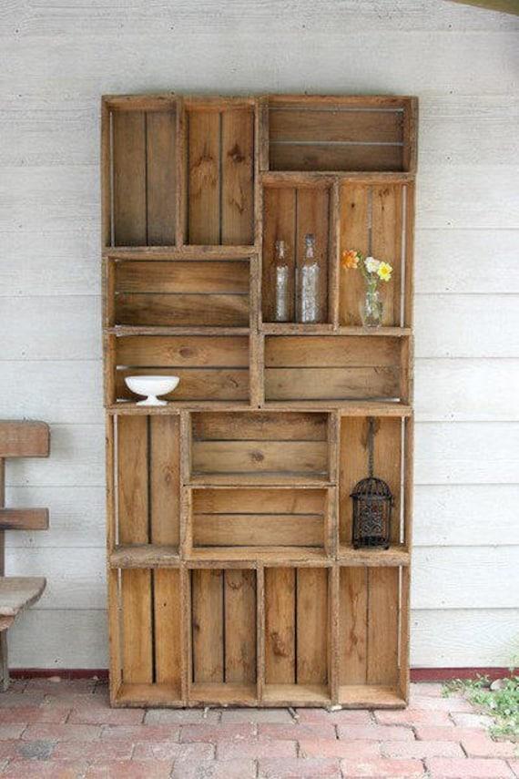 Outdoor Wohnzimmer Regal Garten Terrasse Möbel Reclaimed Bauernhof  Produzieren Kiste DIY Holz Erneuerbare Ressource Regale Regale