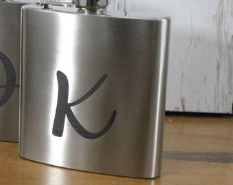 Flask/Engraved/Groom Gift/Groomsmen/Bachelor Party/Father's Day/Flask/Color Choice/Personalized