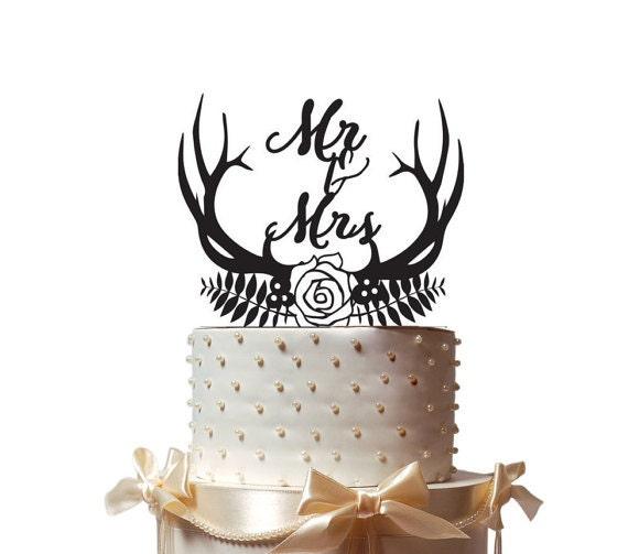 Wedding Cake Topper Bois Laurier Mr Et Mme Cake Decor Top Pour