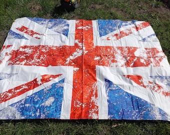 Picnic blanket Uk or Usa stilish flag Modern EXTRA LARGE blanket , Bag Beach Summer Picnic blanket Outside blanket GIFT