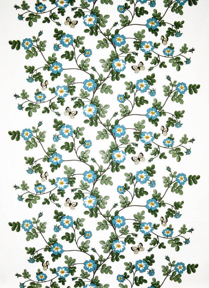 blanches roses bleus nappe fleur d cor floral scandinave etsy. Black Bedroom Furniture Sets. Home Design Ideas