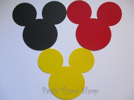 This is a graphic of Declarative Mickey Mouse Head Printable Cutouts