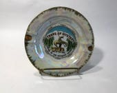 Trees Of Mystery End of The Trail Souvenir Ashtray Mother Of Pearl Shrine Of The Redwood Highway