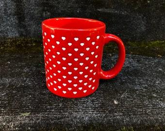 Waechtersbach Red Heart MUG Coffee Tea 14 Ounce West Germany