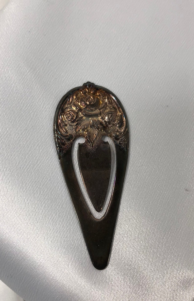 Kirk STIEFF Repousse Rose Sterling Silver Book Mark Electric image 0