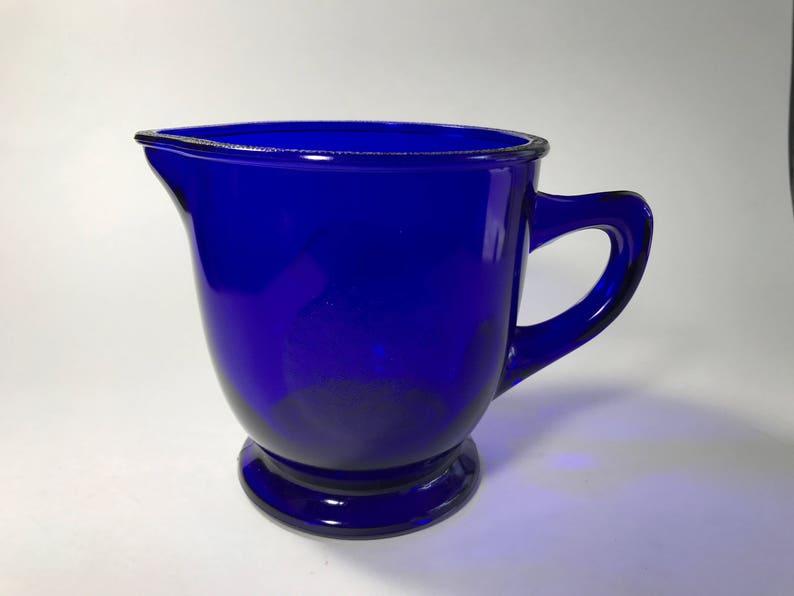 Vintage Cobalt Blue Orange Juice Pitcher Kitchen Serving image 0