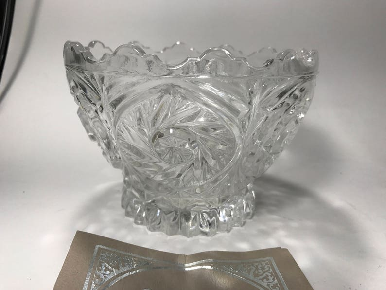 Imperial Crystal Sunrise Collection BOWL Made in W Germany 24% image 0