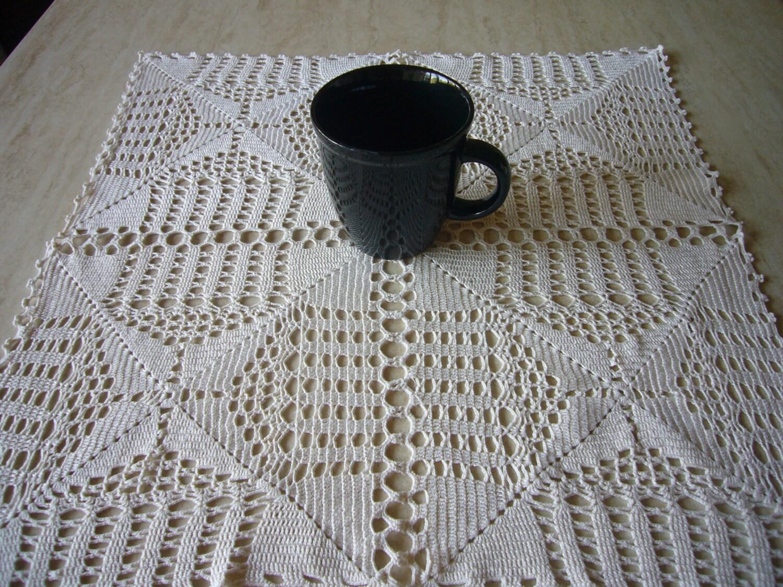 Quadrat häkeln Tischläufer Vintage handgefertigte Tischdecke