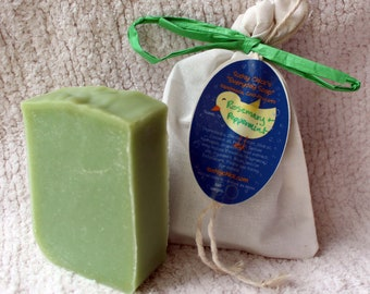 Wake Up Rosemary Everyday Soap Handmade Cold Process w/ notes of Peppermint, Corn mint, Lily, Lavender, & more