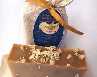 "Oatmeal, Milk & Honey ""Everyday Soap"" Handmade Cold Process"