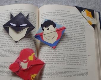 Justice League Corner Bookmark (Batman, Superman, Wonder Woman, Flash, Green Arrow)