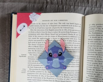 Stitch (Lilo and stitch) or Baymax (Big Hero 6) Laminated Corner Bookmark