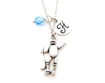 Look Tin Man Wizard Of Oz Gold Plated Over Reals Sterling Silver Charm Pendant Fashion Jewellery