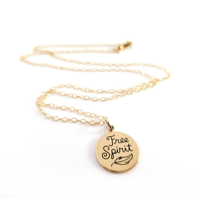Gift for Her Dainty 14k Gold Filled Jewelry Free Spirit Charm Necklace