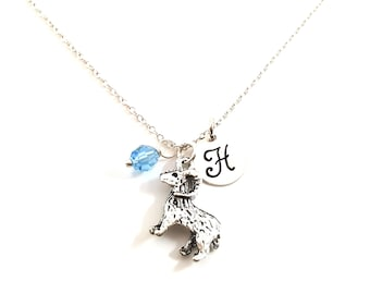 Goat - Ram Necklace - Initial Necklace - Personalized Necklace - Sterling Silver Jewelry - Gift for Her
