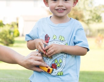 Toddler Race Track T-Shirt Road Map Car Play Mat Map Drive on Cars Kids Shirt