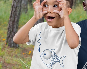 Little Boy Fish Shirt  Matching Father and Son Grandpa Grandson