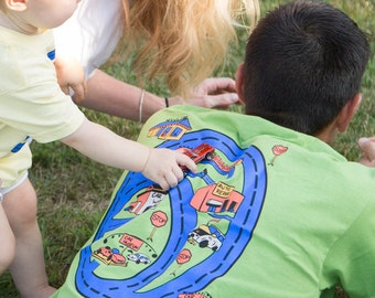 Race Track Shirt Plus MATCHBOX road Map Car Play Mat T Shirt, Dad of Sons. Father's Day Gift for Dad Papa, Father and Son Matching T-Shirts