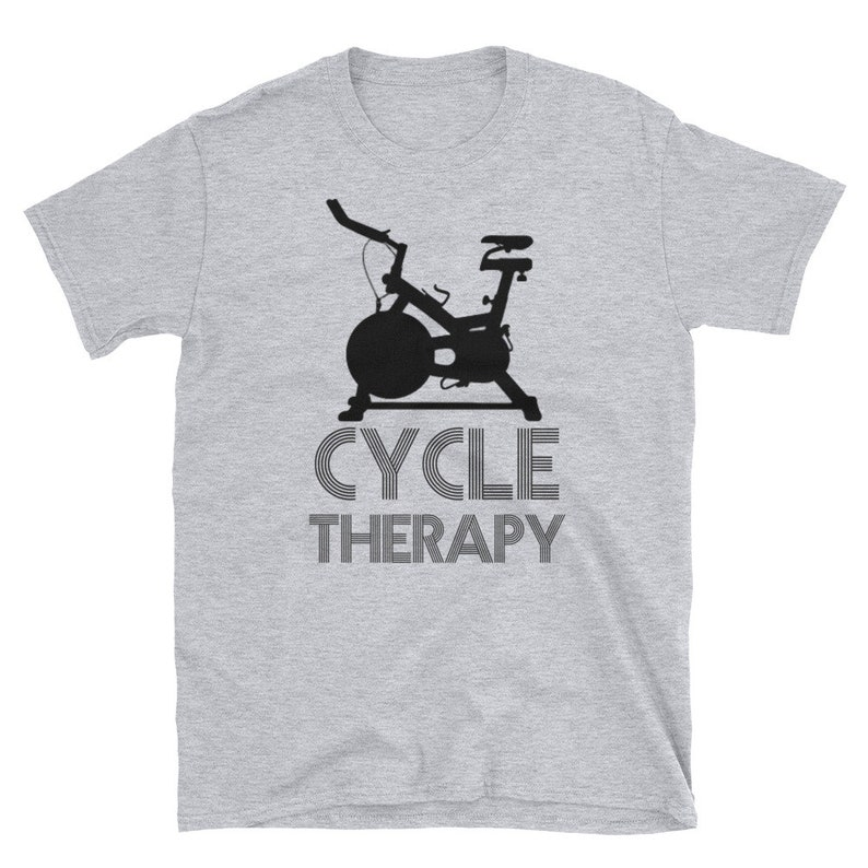 Spinning Cycle Therapy Gym Spin Class T-Shirt Short-Sleeve image 0