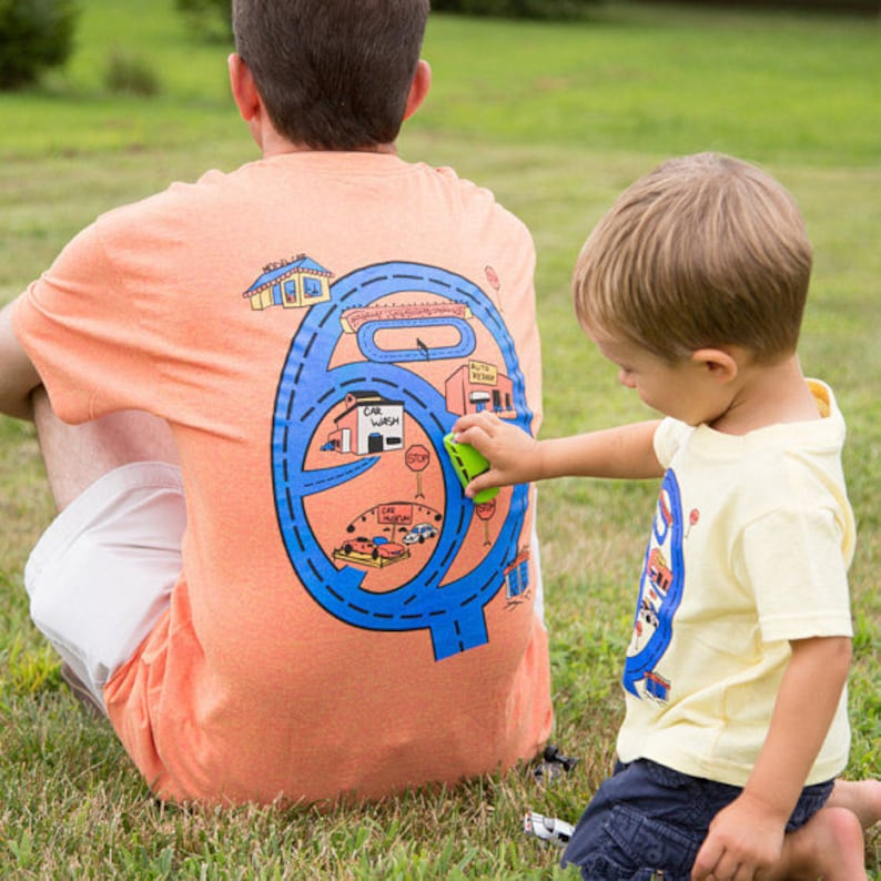 Race Car Shirt Valentine Gift for Dad and Son From Son Race image 0