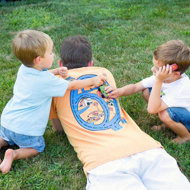 Race Track Shirt Road Map Car Play Mat T Shirt Dad of Sons. image 0