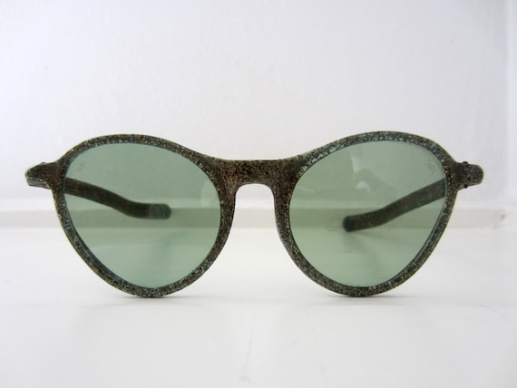 40s/50s Willson Green Glittering Cat Eye Sunglasse