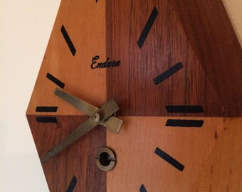 Mid Century Modern Wood Endure  Wall Clock