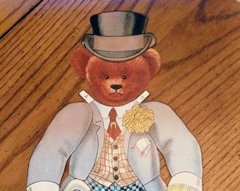 Jumbo Teddy Bear Paper Doll Collector Set Old Fashioned Teddy Bear Doll & Costume Set 1907 Replica Merrimack