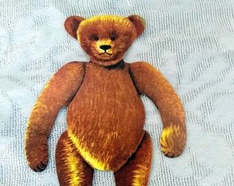 "Old Fashioned Teddy Bear Paper Doll Set 5"" Bear Costumes Vintage Merrimack 1979"