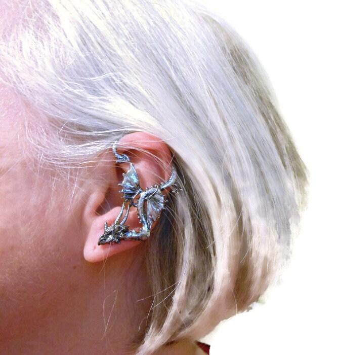 Dragon Ear Cuff Earring Celtic Symbol Renaissance Left Ear